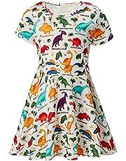 c3b1eccac ALISISTER Little Girls Dress Short Sleeve 90S Toddler Sundress Summer  Apparel