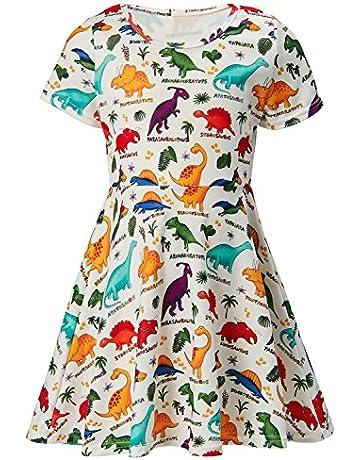 4ff9b443b ALISISTER Little Girls Dress Short Sleeve 90S Toddler Sundress Summer  Apparel