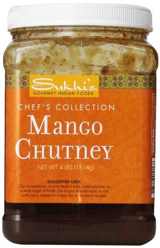 Sukhi's Gourmet Indian Foods Chutney, Mango, 4 Pound ( Pack May Vary ) ()
