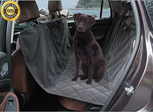 Lanyar Microfiber Seat Cover For Small Medium Large Dogs Pet Car Seat Protector for Cars SUV, Dark Grey X-Large