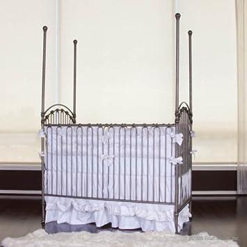 Amazon Com Bratt Decor Venetian Crib In Pewter Baby