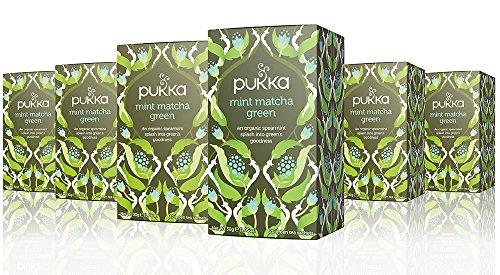 - Pukka Herbs Organic Mint Matcha Green Tea, 20 individually wrapped tea bags, 6 Count