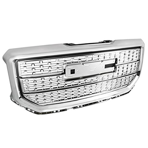 Replacement Upper Grille (GMC Sierra 1500 Pickup Front Upper Hood Grill Mesh Grille 1 Piece Replacement)