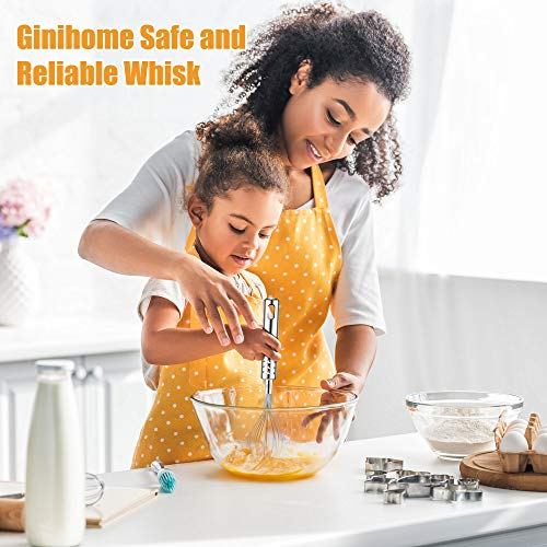 GiniHome Whisk, Stainless Steel Better Balloon Whisk, Flour Cake Hand Mixer, Easy for Kitchen and Life by GiniHome (Image #1)