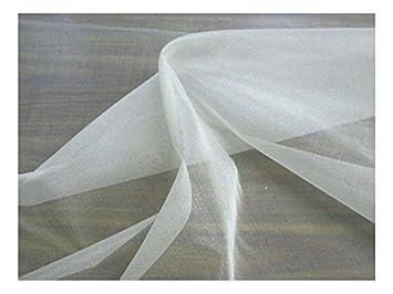 Fabrics-City REINWEIß SEIDENORGANZA 100% SEIDE STOFF BRAUTMODE STOFFE, 2549 407f3feeae