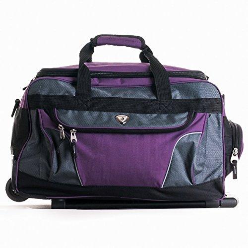 Upright Duffel (CALPAK Champ Purple  21-inch Carry On Rolling Upright Duffel Bag)