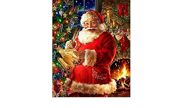 TOPOB - Kit de decoración de Navidad con diamantes 5D para ...