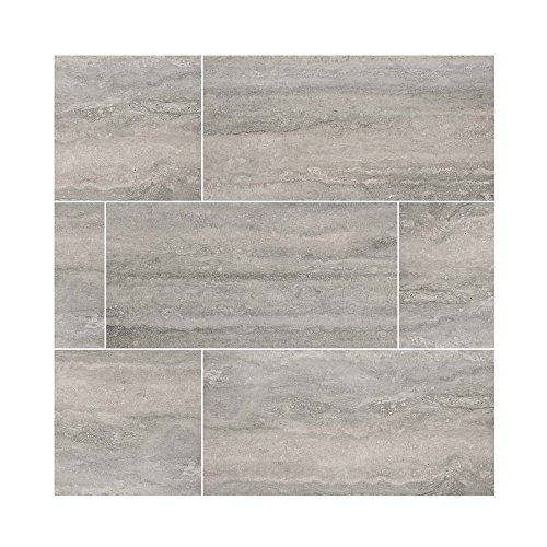 VENETO GRAY 12 in. X 24 in. 8 Pieces Per Box - Greige Tile Flooring