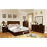 247SHOPATHOME IDF 7807CK 6PC Bedroom Furniture Sets, California King, Cherry
