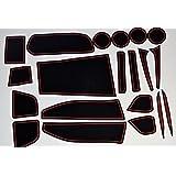 KINMEI(キンメイ) トヨタ シエンタ SIENTA 新型7人乗り 赤 P17#G型 専用設計 インテリア ドアポケット マット ドリンクホルダー 滑り止め ノンスリップ 収納スペース保護 ゴムマット TOYOTAsi-r
