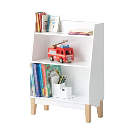 Book Shelf Bookcase Childrens Multifunction Simple Locker Household White Corner Bookshelf Wood