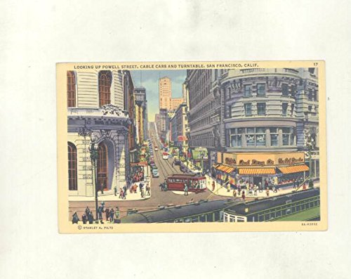 1942 Powell St Cable Cars San Francisco California ORIGINAL - St San Francisco Powell