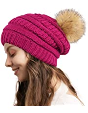 camptrace Winter Hats for Women Knit Slouchy Beanie Hat Warm Soft Fleece Lined Chunky Thick Skull Ski Cap