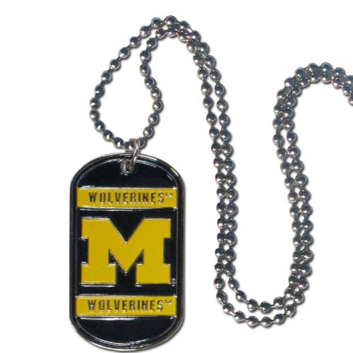 NCAA Michigan Wolverines Chrome NeckTag Necklace