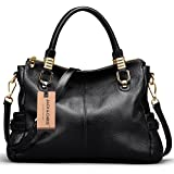 Jack&Chris® Women Vintage Leather Shoulder Handbags Top-handle Tote,WBDZ019