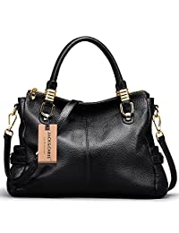 Jack&Chris® Women Vintage Leather Shoulder Handbags Top-handle Tote,WB517