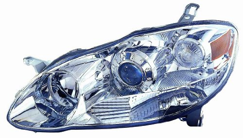 Depo 312-1183PXAS1 Toyota Corolla Chrome Headlight Projec...