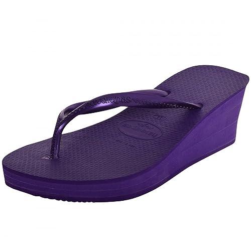 3ba78fdb6c9ebd Havaianas Womens High Fashion Wedge Heel Sandals Flip Flops Smart Platform  Evening Heels UK 8 (Brazil 39) EUR 41 Dark Purple High Fashion   Amazon.co.uk  ...