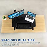 VIVO Black Height Adjustable 36 inch Stand up Desk