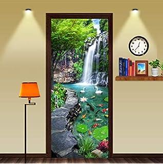 3D Door Wall Fridge Waterfall Sticker Decals Wrap Mural Self Adhesive Home Decor
