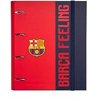 Grupo Erik - Carpeta 4 anillas troquelada premium Fc Barcelona, 32x26 cm