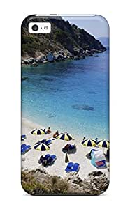 Anti-scratch And Shatterproof Beach Phone Case For Iphone 5c/ High Quality Tpu Case