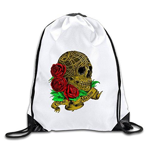 RYAN Sugar Skull Roses Day Of The Dead Unisex Drawstring Backpack Sackpack Bag - Party City Sugar Skull Costume