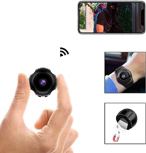 Spy Camera 1080P Video Recorder Wireless IP Mini Cameras Hidden Camera Ultra Small Camera WiFi Remote View Home Security cam Mini Security Monitoring 160 Angle Nanny Cam Night Vision Motion Dete
