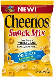 Cheerios Snack Mix - Original, 8-Ounce Bags (Pack of 12)