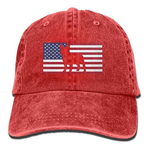 (French Bulldog USA Flag Vintage Denim Baseball Cap Adjustable Plain Cap Unisex)