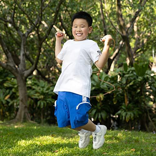 MELORIY 縄跳び 子供用 縄跳び 小学生 幼児 学校 なわとび小学生 高速シャフト 長さ調節可 (オレンジ色)
