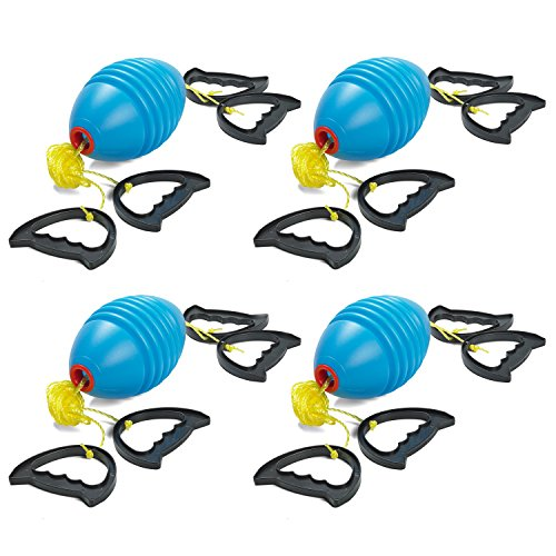 Prextex Zoom Ball (4 Pack) Outdoor Game Zip Ball Game