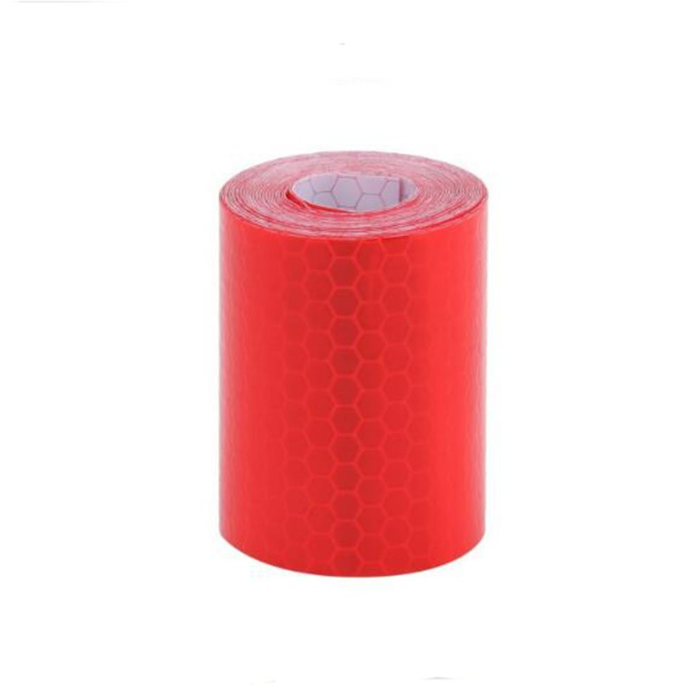 WSERE Reflective Warning Tape Sticker, High Visibility Safety Honeycomb Conspicuity Tapes Multicolor, 1.97' × 118.11' (Red) 1.97 × 118.11 (Red)