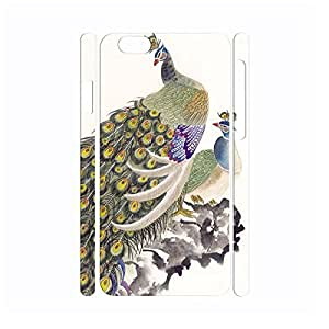 Fancy Utility Vintage Peacock Anti Shock Hard Plastic Cover Skin for Iphone 6 Case - 4.7 Inch