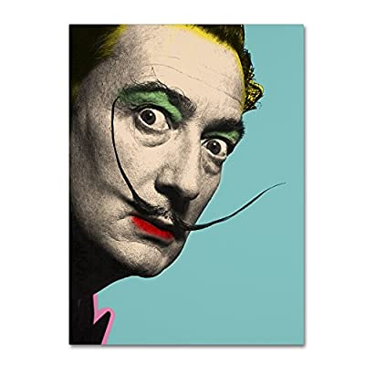 "Salvador Dali by Mark Ashkenazi Wall Decor, 18 by 24"" Canvas Wall Art - Artist: Mark Ashkenazi Subject: Portrait Style: Contemporary - wall-art, living-room-decor, living-room - 51hI4Dn2GiL. SS400  -"