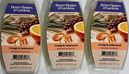 Better Homes and Gardens Orange & Cedarwood Essential Oil Infused Wax Cubes - 3-Pack ()