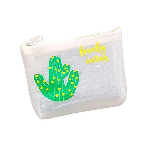 Monedero Gelatina de Cactus para Niñas y Chicas Cartera Pequeño para Mujer Bolsos Clutches Super Linda