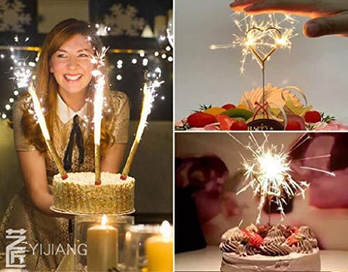 - Dwpetzo Smokeless Birthday Candle Wedding Bottle Cake Party Candles 1 Pack (6 pcs)
