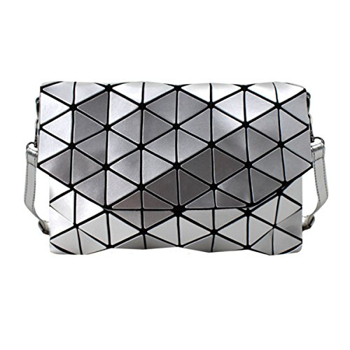 Handbag Bag Silver Leather Shoulder Laser Fashion Envelope Clutch Meliya Grey Purse Holographic Womens wqzZZR