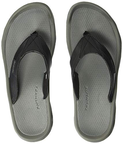 Columbia Men's Buxton FLIP Sport Sandal, Black, Charcoal, 8 Regular US