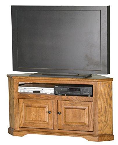 """Eagle Oak Ridge Corner TV Cart, 50"""", Medium Oak Finish"""
