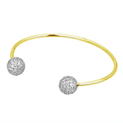 Fashion Jewelry Jewelry & Watches Brilliant Beautiful Silver Sparkle Gold Tone Cuff Bangle Bracelet