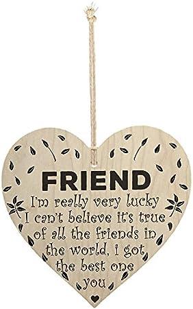 Inspirational plaques So very proud of you wooden heart sign plaque best friend friendship women men her him