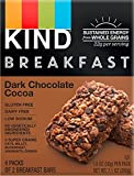 KIND Breakfast Bars, Dark Chocolate Cocoa, Gluten Free, 1.8 Ounce, 32 Count