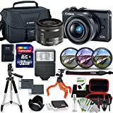 Canon EOS M100 Mirrorless Digital Camera (Black) with 15-45mm STM Lens Kit with Premium Accessory Bundle