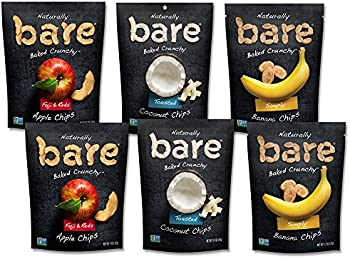 Bare 6 Count Natural Fruit Chips, Apple/Banana/Coconut Variety Pack