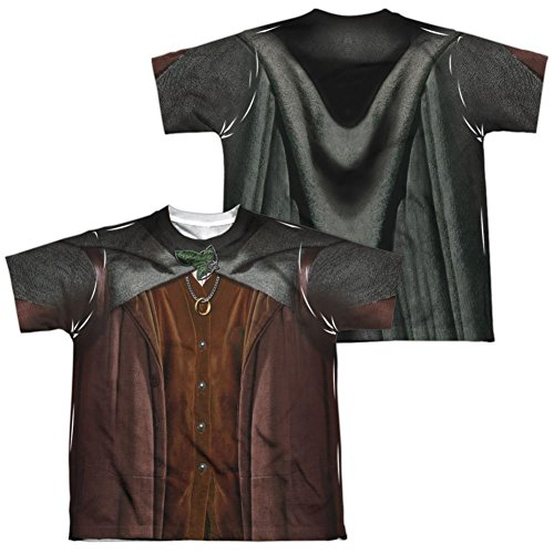 [Youth: Lord Of The Rings- Frodo Costume Tee (Front/Back) Kids T-Shirt Size YL] (Frodo Costume For Kids)