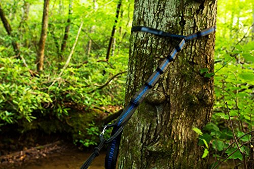 Top Rated iSKYS Atlas Slap Straps Suspension System Designed For ENO Eagle Nest Outfitters Hammocks also works for most of the Hammocks on the market (2 Straps with Pouch)