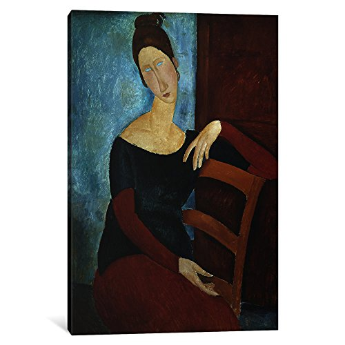 iCanvasART 1-Piece The Artist's Wife Canvas Print by Amedeo Modigliani, 0.75 by 18 by 26-Inch Amedeo Modigliani Framed Canvas