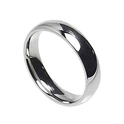 6mm stainless steel comfort fit plain wedding band ring size 5 14 5